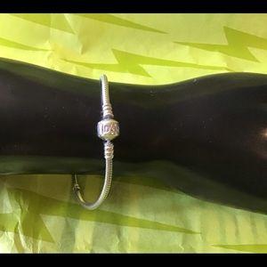 "Pandora bracelet, original, free bead, 7.5"" EUC"